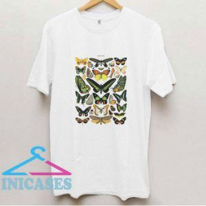 Vintage Butterfly Drawing T Shirt