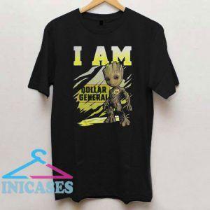 Baby Groot I Am Dollar General T Shirt