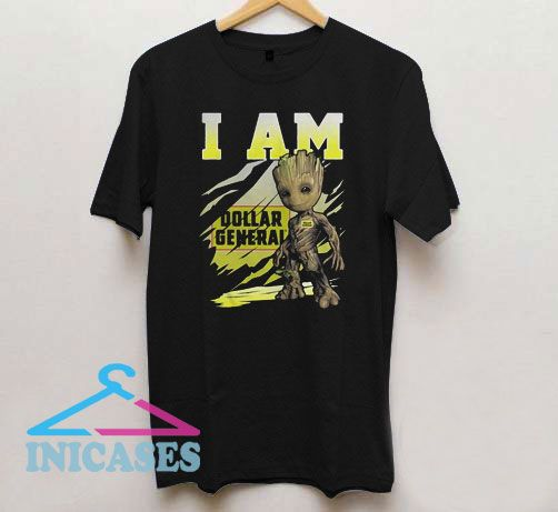 Baby Groot I Am Dollar General T Shirt
