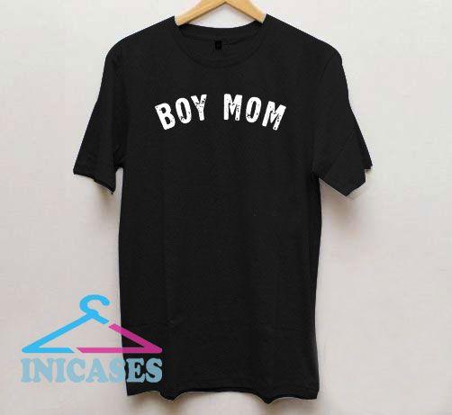 Boy Mom Logo T Shirt