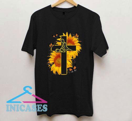 Butterfly Therapist Christ Sunflower T Shirt
