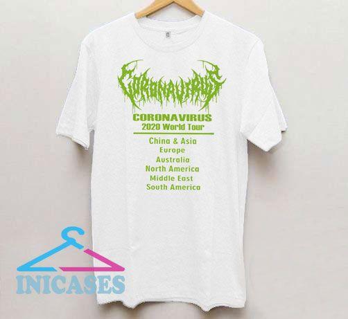 Corona virus 2020 World Tour T Shirt
