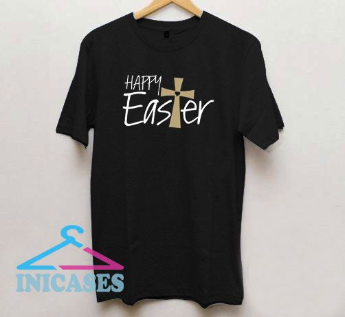 Happy Easter Cross T Shirt