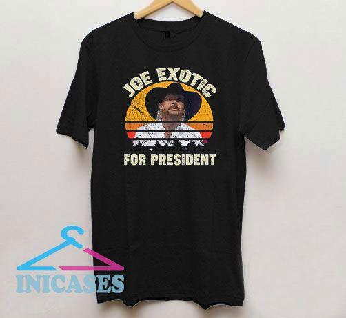 Joe Exotic for President 2020 Vintage Retro Sunset T Shirt