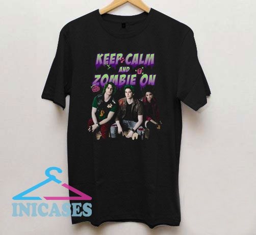 Keep Calm and Zombie On T Shirt