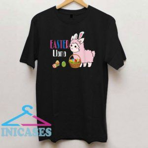 Llama Bunny Basket Eggs Easter T Shirt
