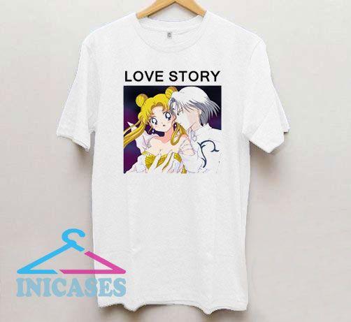 Love Story Sailor Moon T Shirt