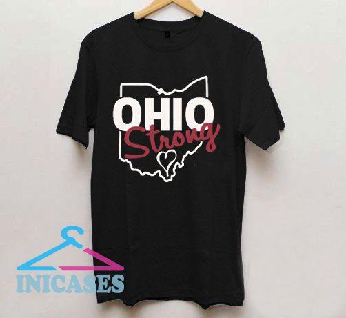 Ohio strong Heart Line Logo T Shirt