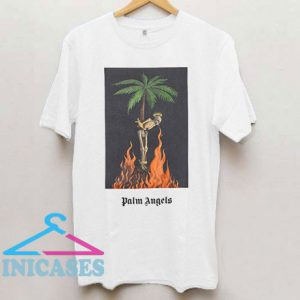 Palm Angels Burning Skeleton T Shirt