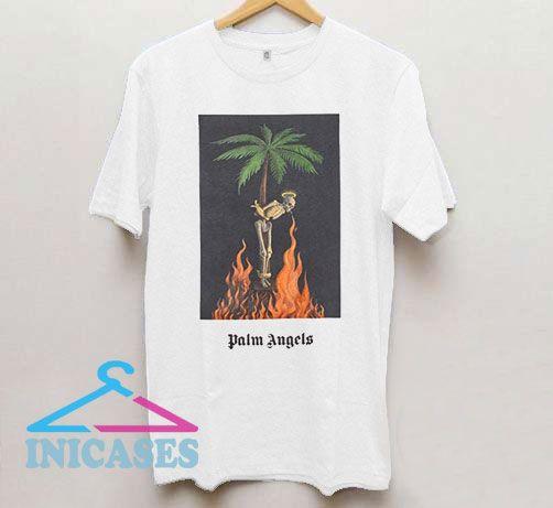 Palm Angels Burning Skeleton T Shirt