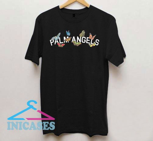 Palm Angels Butterfly College T Shirt