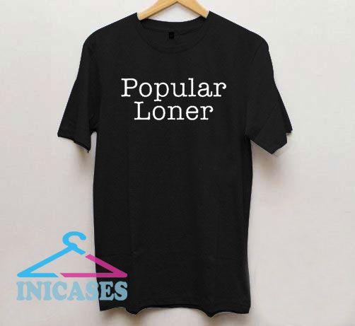 Popular Loner Font Logo T Shirt