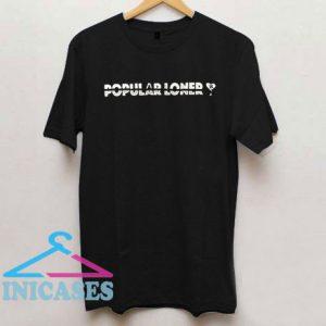 Popular Loner Heart Draw T Shirt