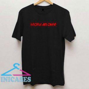 Popular Loner Red Logo T Shirt