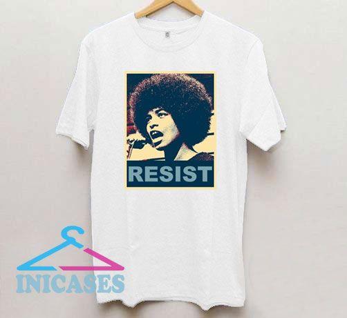 Resist Angela Davis T Shirt