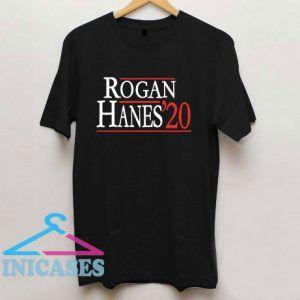 Rogan Hanes 2020 Font Logo T Shirt