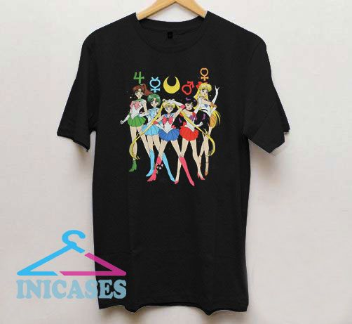 Sailor Moon Group Symbols T Shirt