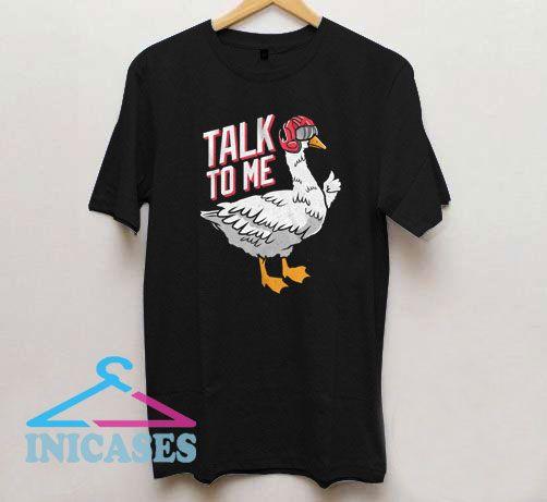 Talk To Me Goose Top Gun Helmet T Shirt