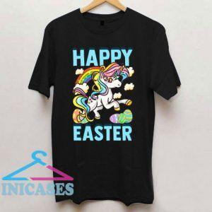 Unicorn Rainbow Eggs Happy Easter T Shirt