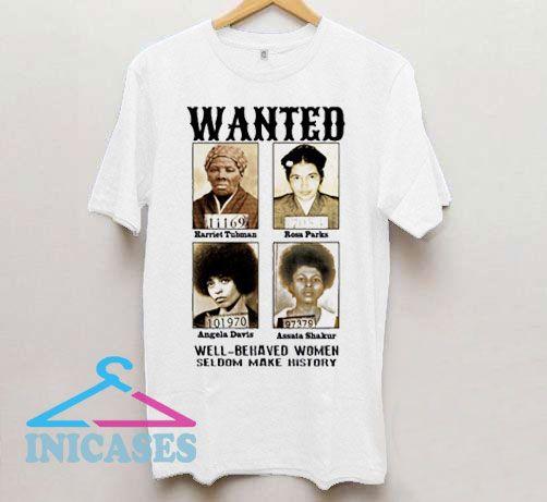 Wanted Angela Davis T Shirt