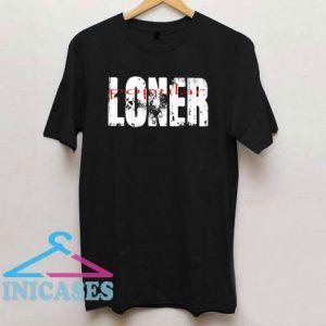 popular loner letter vintage T Shirt