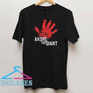Andre The Giant Hand Print T Shirt