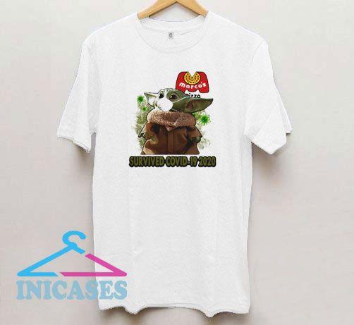 Baby Yoda Mask Marcos Pizza T Shirt