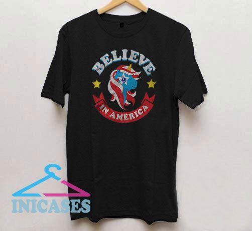 Believe in America Funny Cartoon T Shirt