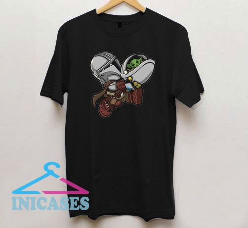 Boba Fett Hug Baby Yoda T Shirt
