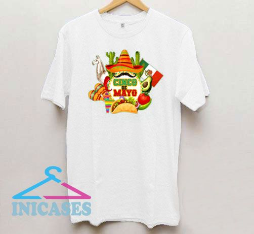 Cinco De Mayo Party Colorful Mexican Flag T Shirt