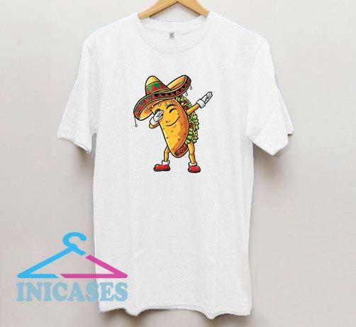 Dabbing Taco Cartoon T Shirt