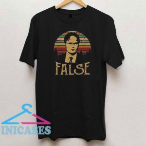 Dwight Schrute False Retro T Shirt