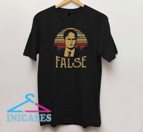 Dwight Schrute False Retro T Shirt