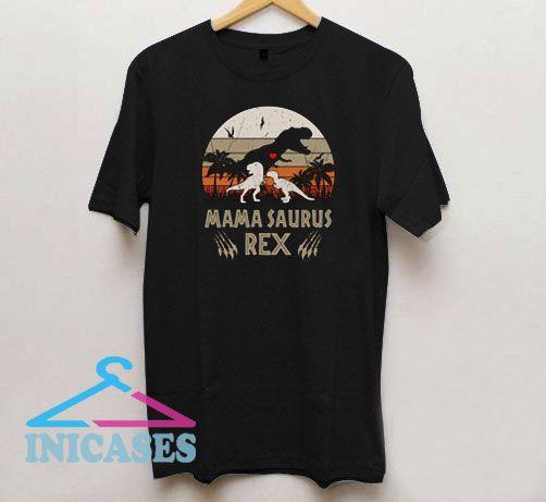 Mamasaurus Rex Sunset Vintage T Shirt