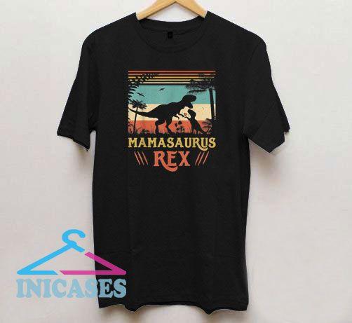 Mamasaurus T rex Dinosaur Mother's Day Vintage T Shirt