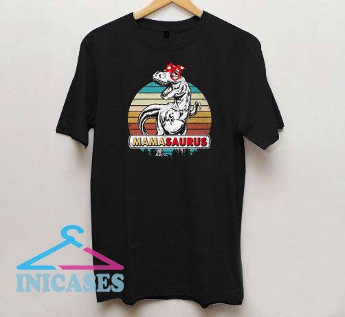 Mamasaurus T rex Dinosaur Vintage T Shirt