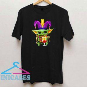Mardi Gras Baby Yoda T Shirt