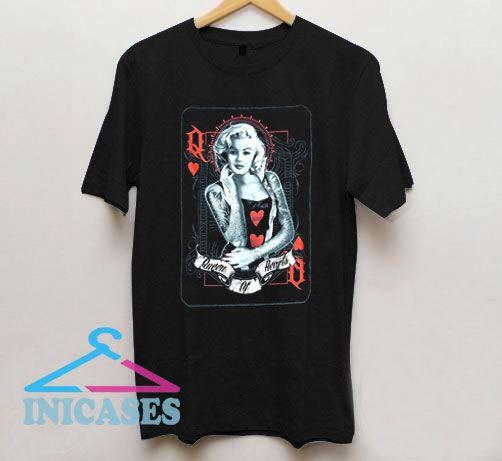 Marilyn Monroe Queen of Hearts T Shirt