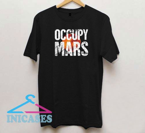 Occupy Mars Font Vintage T Shirt