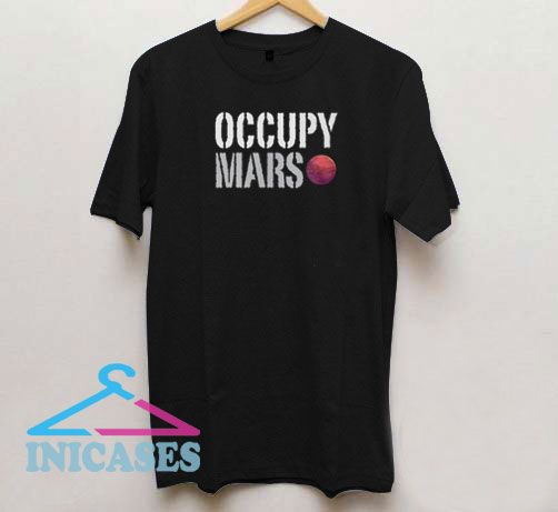 Occupy Mars Letter T Shirt