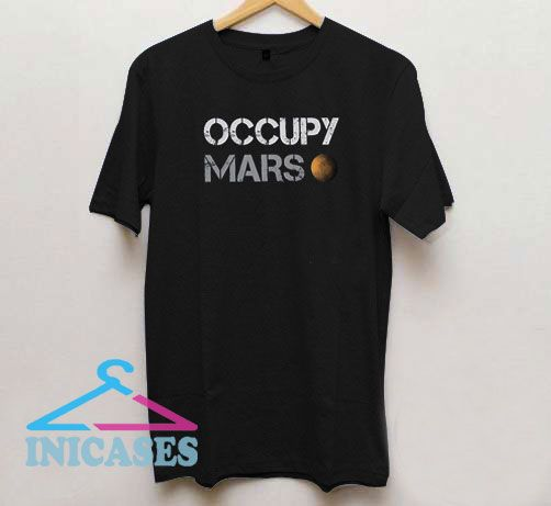 Occupy Mars Vintage Letter T Shirt