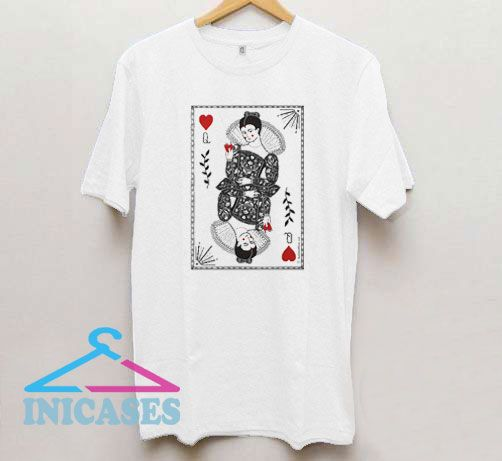 Queen of Hearts illustrated T Shirt