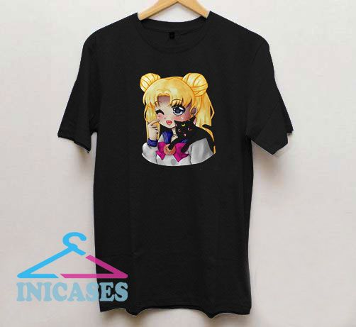 Sailor Moon Usagi and Luna T Shirt