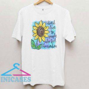 Sunflower Stand Close T Shirt