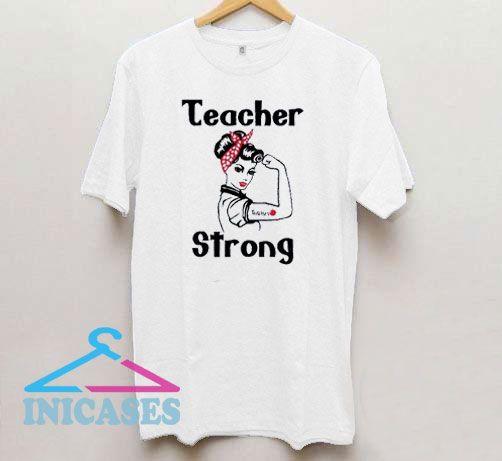 Teacher Strong Art Draw T Shirt