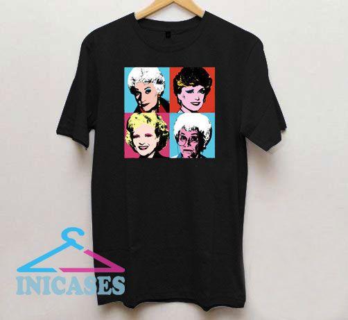The Golden Girls Retro Colors Photo T Shirt