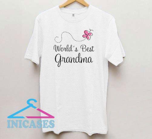 World's Best Grandma Butterfly T Shirt