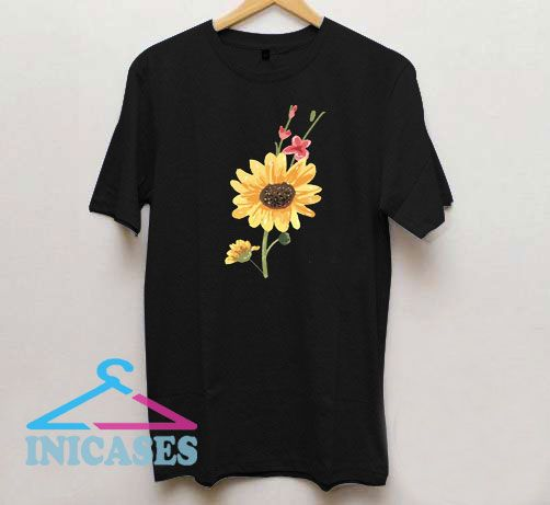 Aesthetic Sunflower Floral T Shirt