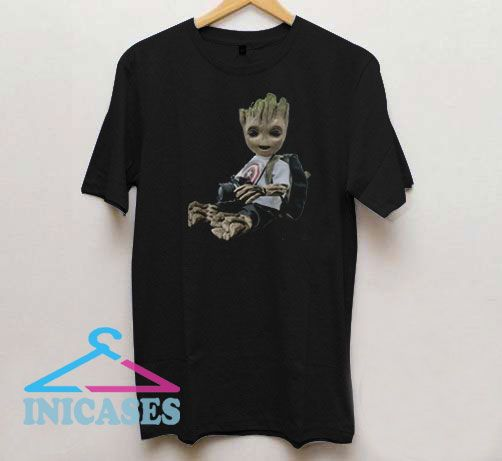Baby Groot Photography Captain America T Shirt