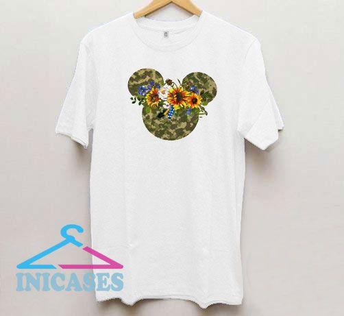 Camouflage Sunflower Floral Cartoon T Shirt